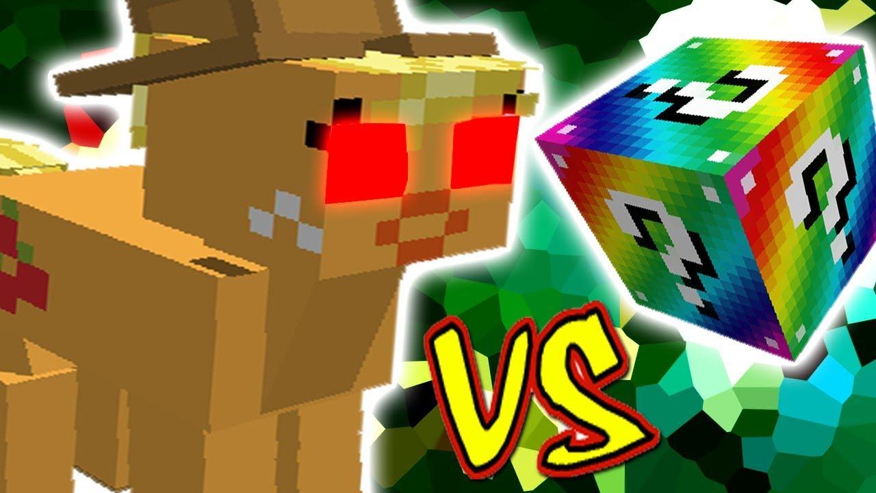 Applejack Vs Lucky Block Rainbow Minecraft Lucky Block Challenge