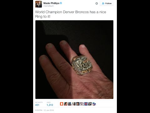 Denver Broncos Defensive Coordinator Wade Phillips Has Wrong Name on Super Bowl Ring