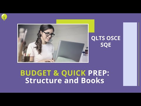 BUDGET & QUICK PREP for the QLTS/OSCE Part 1