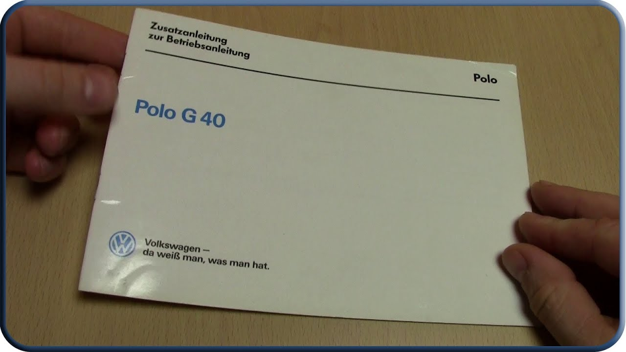 polo 86c betriebsanleitung