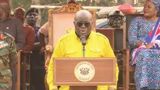 President Akufo-Addo Addresses Durbar of Chiefs in Oti Region