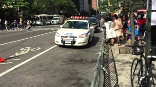 NYPD & UNITED STATES SECRET SERVICE ESCORTING DIPLOMAT DURING UNITED NATIONS GENERAL ASSEMBLY.