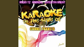 Mama (In the Style of Connie Francis) (Karaoke Version)