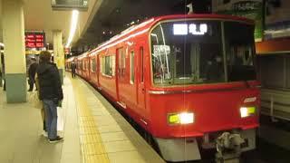 名鉄3500系3513F更新車+3150系3153F金山駅発車