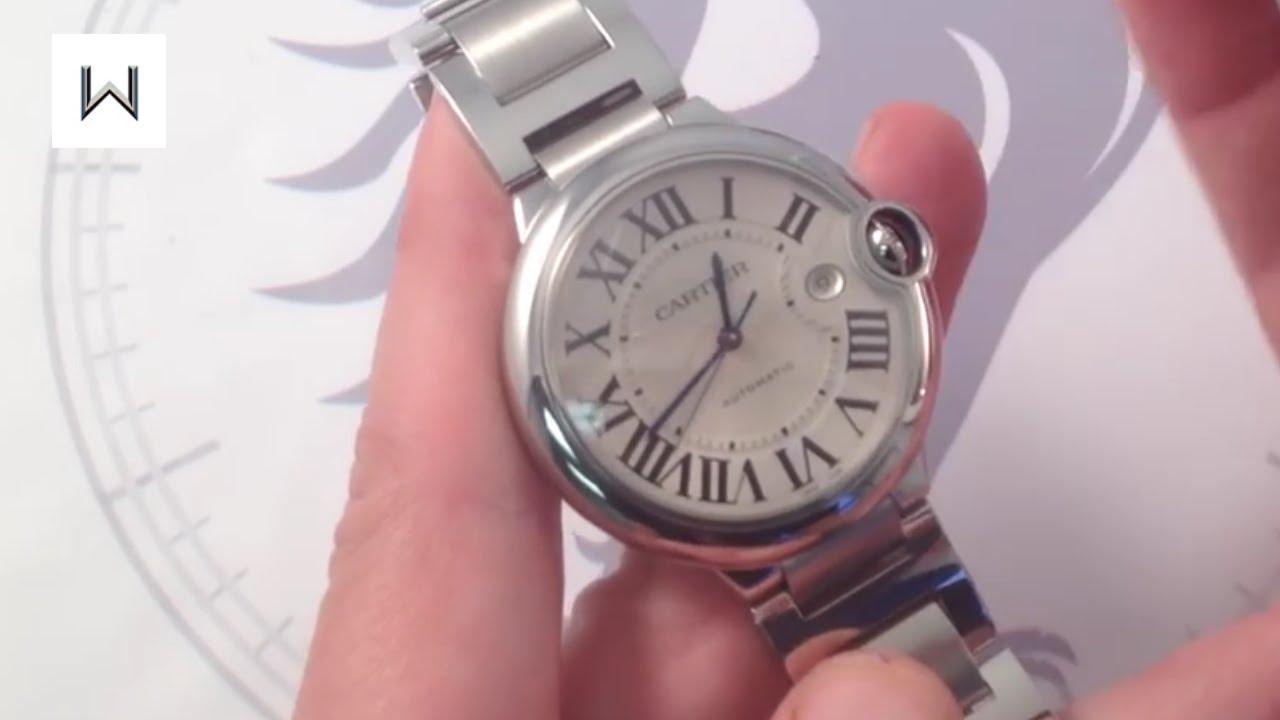 d2b9f892c4e3a Cartier Ballon Bleu Automatic 42mm Luxury Watch Reviews - YouTube
