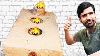 Make Simple Rocket Fire Stove with Chimney