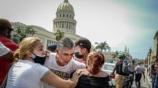 Protestas en La Habana y otras ciudades de Cuba contra el Gobierno de Díaz-Canel