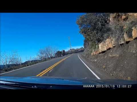 Drive through Santa Monica Mountains - Mulholland