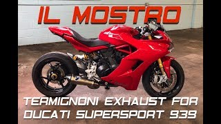 Termignoni DESTROYS Stock exhaust on Ducati Supersport 939