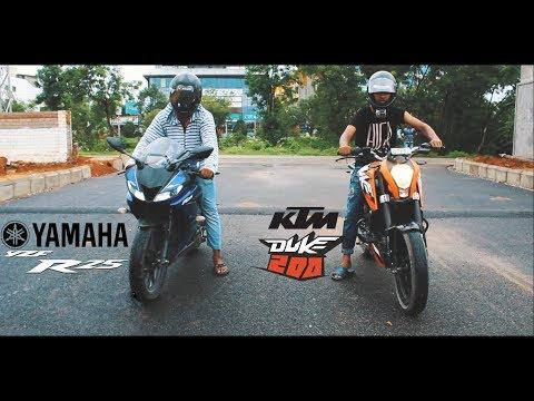 Duke 200 Vs R15 v3 Drag Race