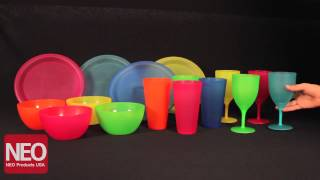 Neo Products - Plastic Plates Bowls Cups & Goblets