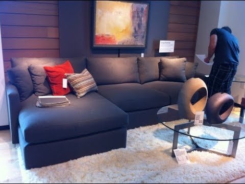 Blue Sectional Sofa With Chaise Youtube