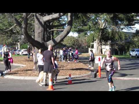 Traralgon finish line - Helen - Half Marathon