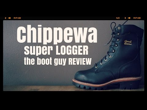 "CHIPPEWA BOOTS Style: 25410 MEN'S 9"" BLACK OILED LOGGER STEEL TOE [ The Boot Guy Reviews ]"