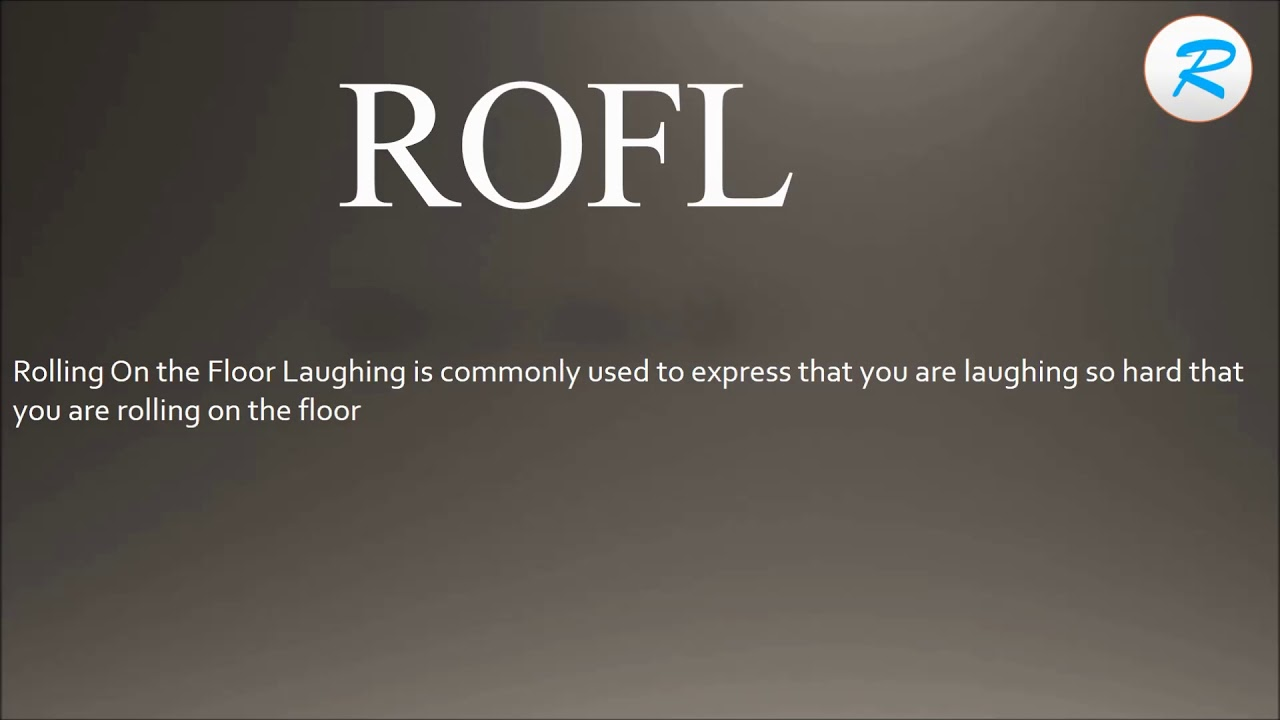 How to pronounce ROFL