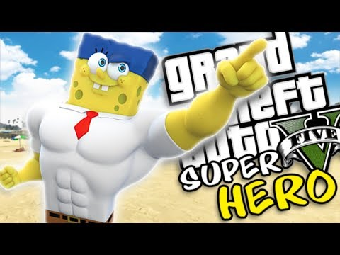 THE ULTIMATE SUPERHERO SPONGEBOB MOD (GTA 5 PC Mods Gameplay) thumbnail