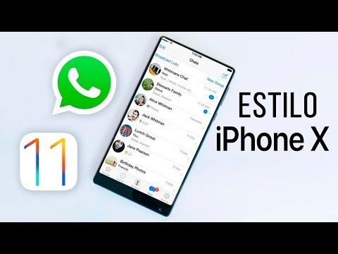 Instala WhatsApp Estilo iOS 11 iPhone X en Cualquier Android 2018