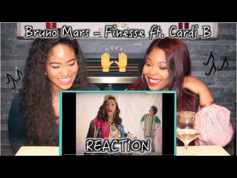 Bruno Mars - Finesse REMIX ft  Cardi B     REACTION