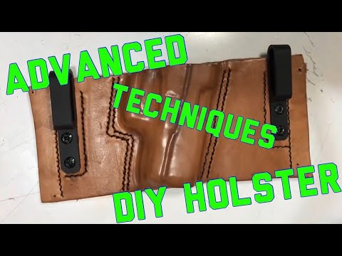 Advanced DIY leather holster tutorial.