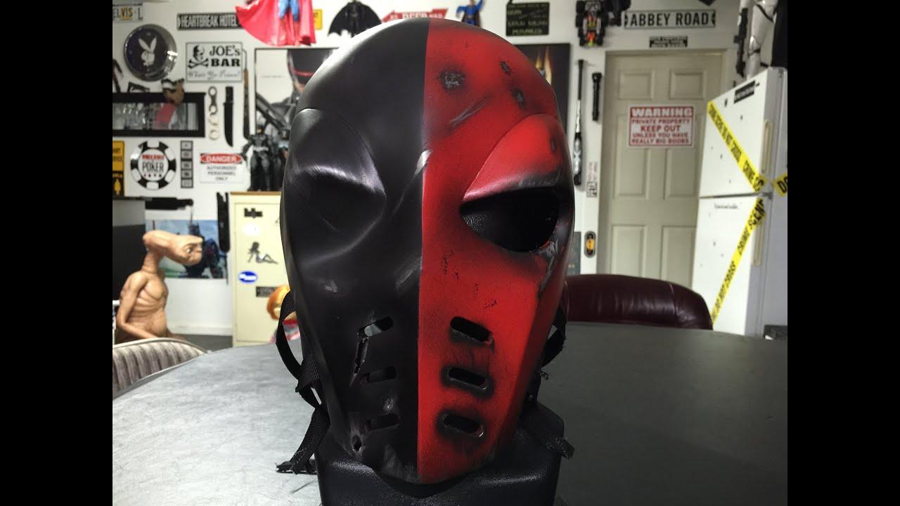 arrow deathstroke mask redbattle damaged youtube