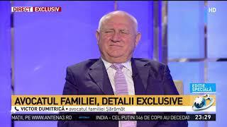 """Avocatul familiei Șărămăt, acuzații grave la adresa părinților adoptivi ai Sorinei: """"Și-au"""