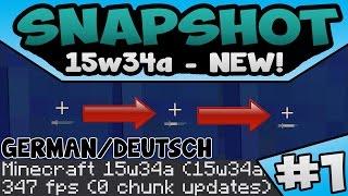 SCHWERT AUFLADEN?! | 15w34c MINECRAFT SNAPSHOT | DEUTSCH/GERMAN