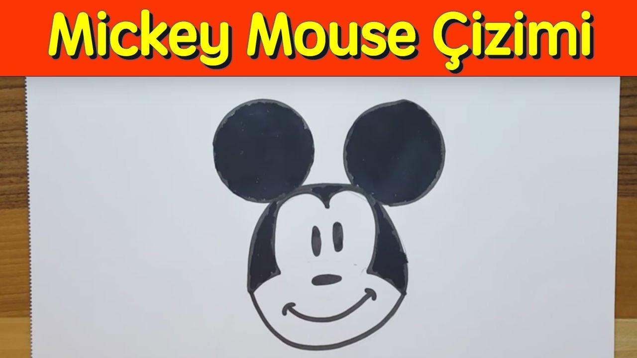 Kolay Mickey Mouse çizimi How To Draw Mickey Mouse Youtube