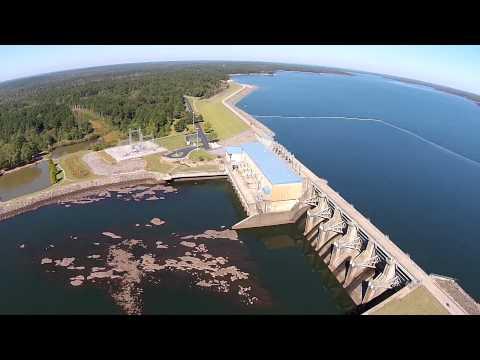 West Point Dam, Lake & West Point Georgia - Aerial - Phantom 2
