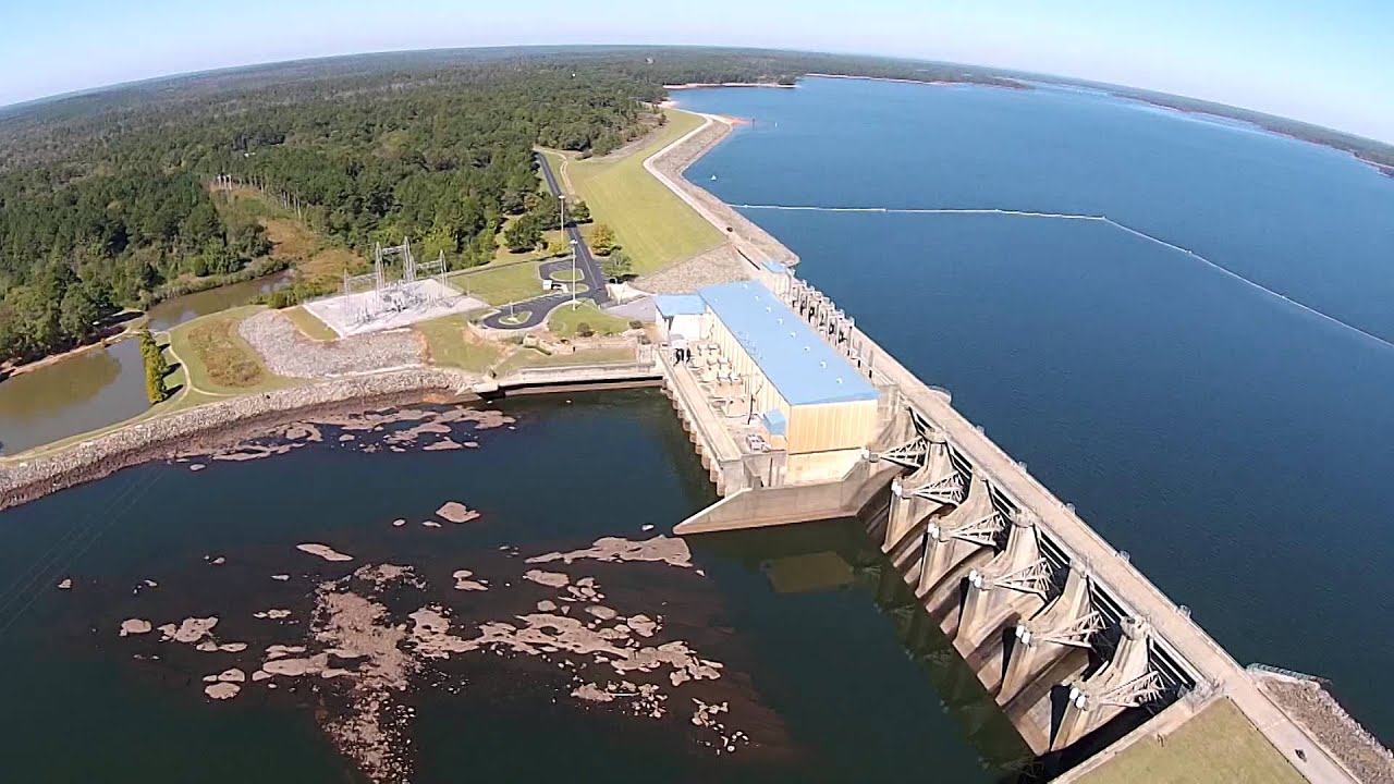 West point dam lake west point georgia aerial for West point fishing report