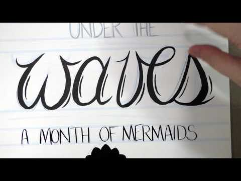 Handlettering Process - 31 Days Under the Waves Cover