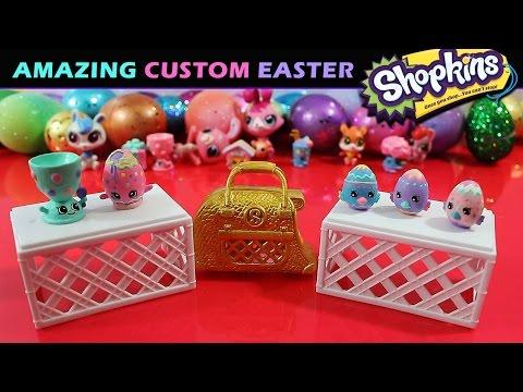 Custom Shopkins Easter Eggs! Eggchic, Googy & Eggcup! Pastel Petkins!