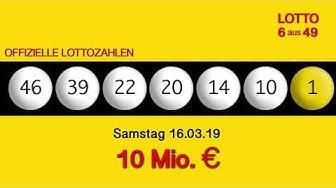 Lottozahlen 16.03.19 Lotto6aus49