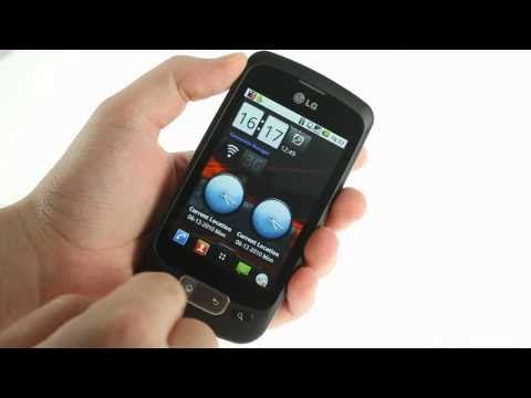 LG Optimus One P500 user interface demo
