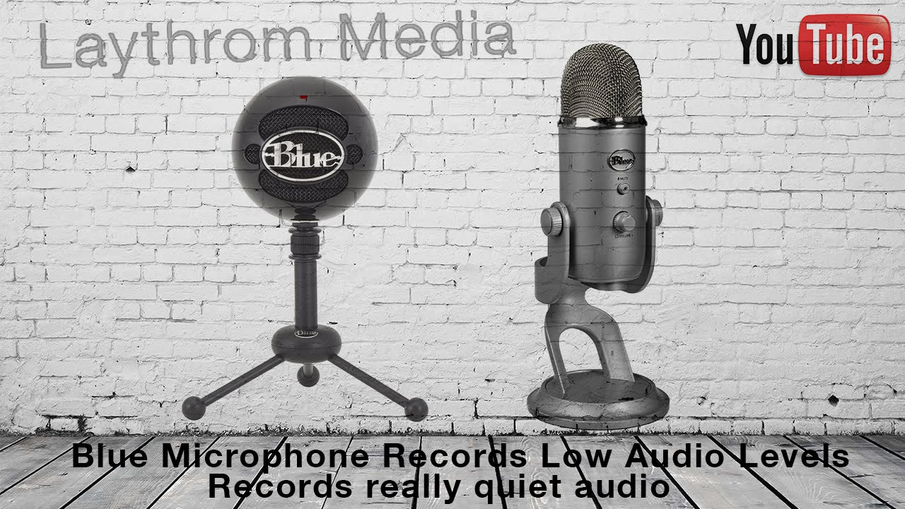 blue usb microphone low recording volume recording very quiet fix youtube. Black Bedroom Furniture Sets. Home Design Ideas