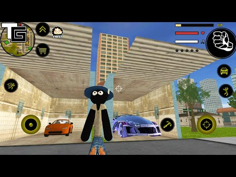 Stickman Rope Hero #12 New Update | Naxeex LLC | New Car Garage - Android GamePlay FHD