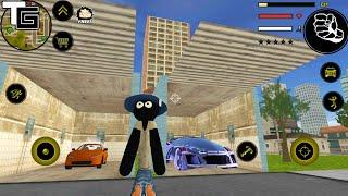 Stickman Rope Hero #12 New Update | Naxeex LLC | New Car Garage - Android GamePlay FHD