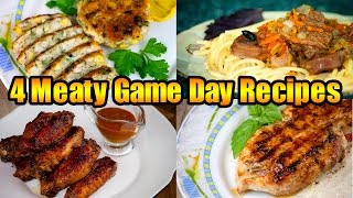 4 Meaty Game Day Recipes | Топ 4 рецепта из мяса