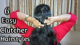 6 Easy Everyday Hairstyle With Using Clutcher Juda Hairstyle Simple
