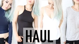 American Haul Try On ♥ Brandy Melville, Sephora, Hollister, Anthropologie Makeup Clothing ♥ Wengie