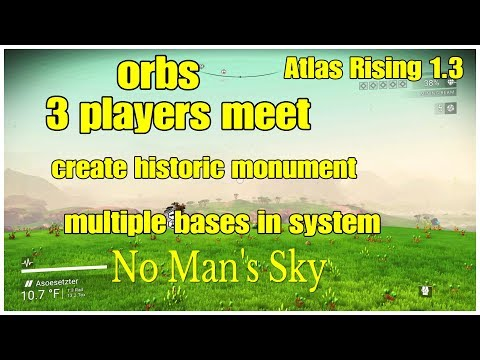 3 Players Meet & Create Historic Monument Orbs No Man's Sky