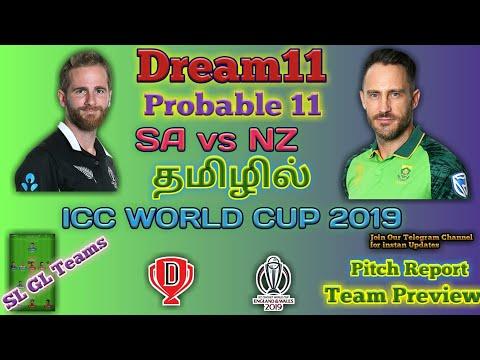 SA Vs NZ   ICC World Cup 2019   தமிழில்  Dream11 Teams  Edgbaston, Birmingham Weather Report