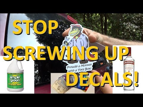 How To Apply Stickers And Decals Properly - So They Last!