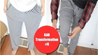 DIY: Baggy sweatpants to Ribbed jogger sweats! | KAD Transformation #9