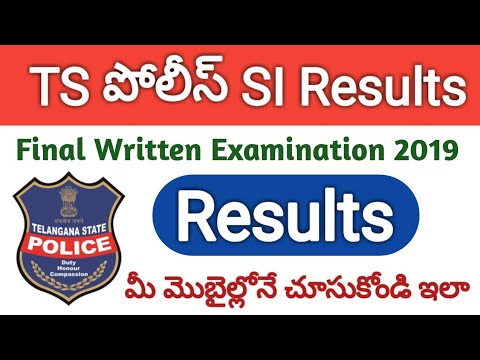 How to Check TS Police SI Final Written Examination Results 2019   TSLPRB SI FWE Results 2019