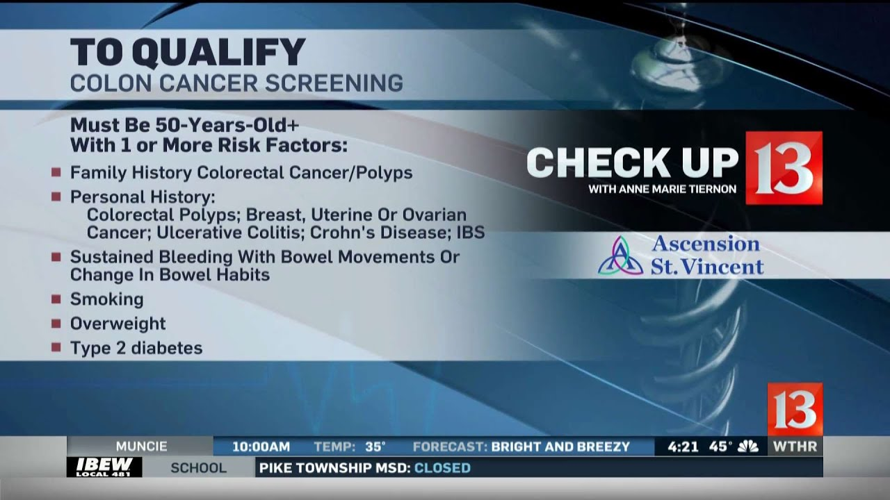 Check Up 13 Colon Cancer Screening Youtube