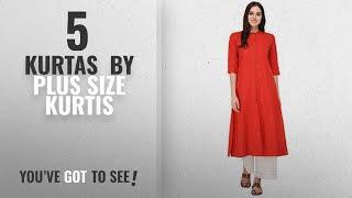 Top 10 Plus Size Kurtis Kurtas 2018 Pistaa women 39 s Solid Cotton Kurta With Fold up Sleeves
