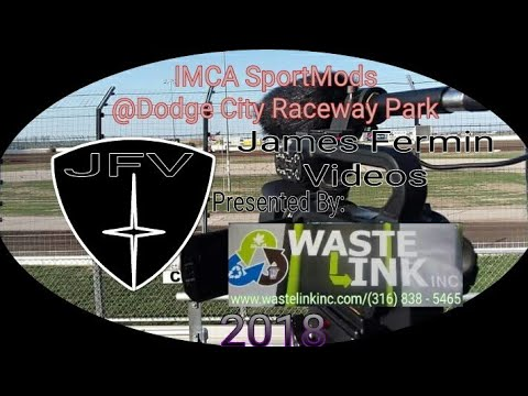 IMCA SportMods #8, B Main, Dodge City Raceway Park, 06/08/18