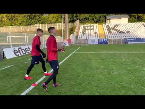 U19 Goalkeepers Train In Belgrade Ahead Of UEFA Youth League Game