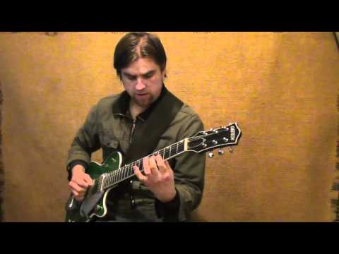 Green Sparkle Jet Jazz Funk Guitar