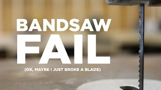 Bandsaw Fail! The Search For A Scroll Saw